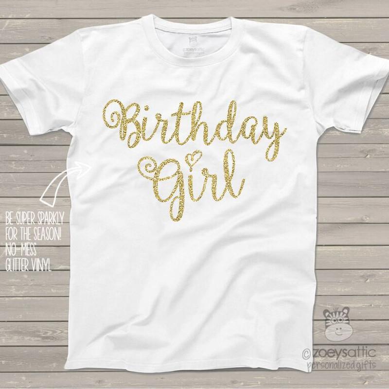 9a28eb8ec glitter birthday shirt, sparkly birthday girl shirt
