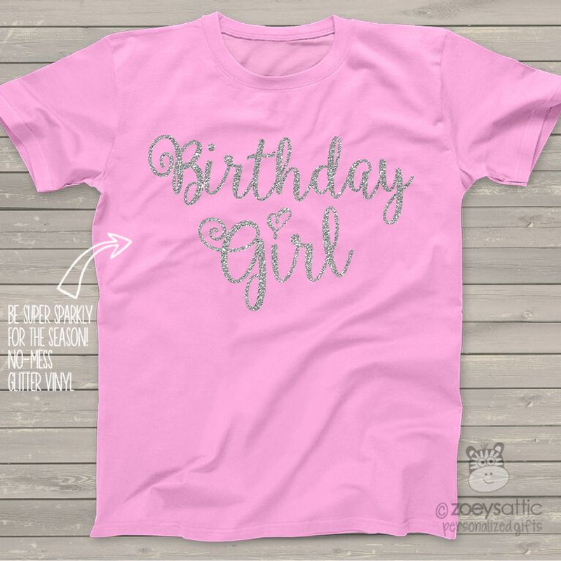 23464cf9df3 ... Birthday girl sparkly glitter Tshirt or bodysuit ...