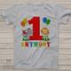 First birthday shirt circus boy or girl personalized Tshirt or bodysuit and circus bib matching set