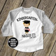 Kindergarten graduation shirt funny nailed it boys personalized raglan style graduation Tshirt