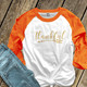 Thankful arrow gold foil or glitter ADULT raglan shirt