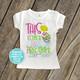 Easter big sister eggspecting pregnancy announcement Tshirt
