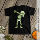 Halloween dabbing skeleton dark Tshirt