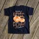 Big sister pumpkin watercolor optional glitter or foil pregnancy announcement DARK Tshirt
