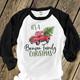 Family Christmas vintage truck personalized unisex ADULT raglan shirt