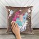 Personalized mermaid decorative sequin pillowcase pillow