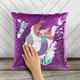 Personalized under the sea mermaid decorative sequin pillowcase pillow