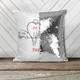 Lovebirds forever personalized decorative sequin pillowcase pillow