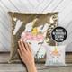 Unicorn decorative sequin pillowcase pillow with back message