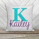 Personalized monogram decorative sequin pillowcase pillow