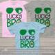 Lucky bro aviator shamrock St. Patricks Day Tshirt