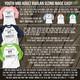 Teach love inspire unisex adult raglan shirt