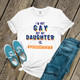 Rainbow I'm not gay but my daughter is hashtag unisex Tshirt