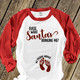 Christmas guess what santa's bringing me NON-MATERNITY unisex adult raglan shirt