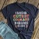 Christmas teacher cutest cookies in the batch personalized DARK Tshirt