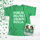 St. Patrick's Day Rolla Missouri S &T shamrock glitter option adult unisex DARK Tshirt