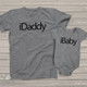 Techie iDaddy and iBaby (or iKid) matching dad and kiddo t-shirt or bodysuit custom gift set