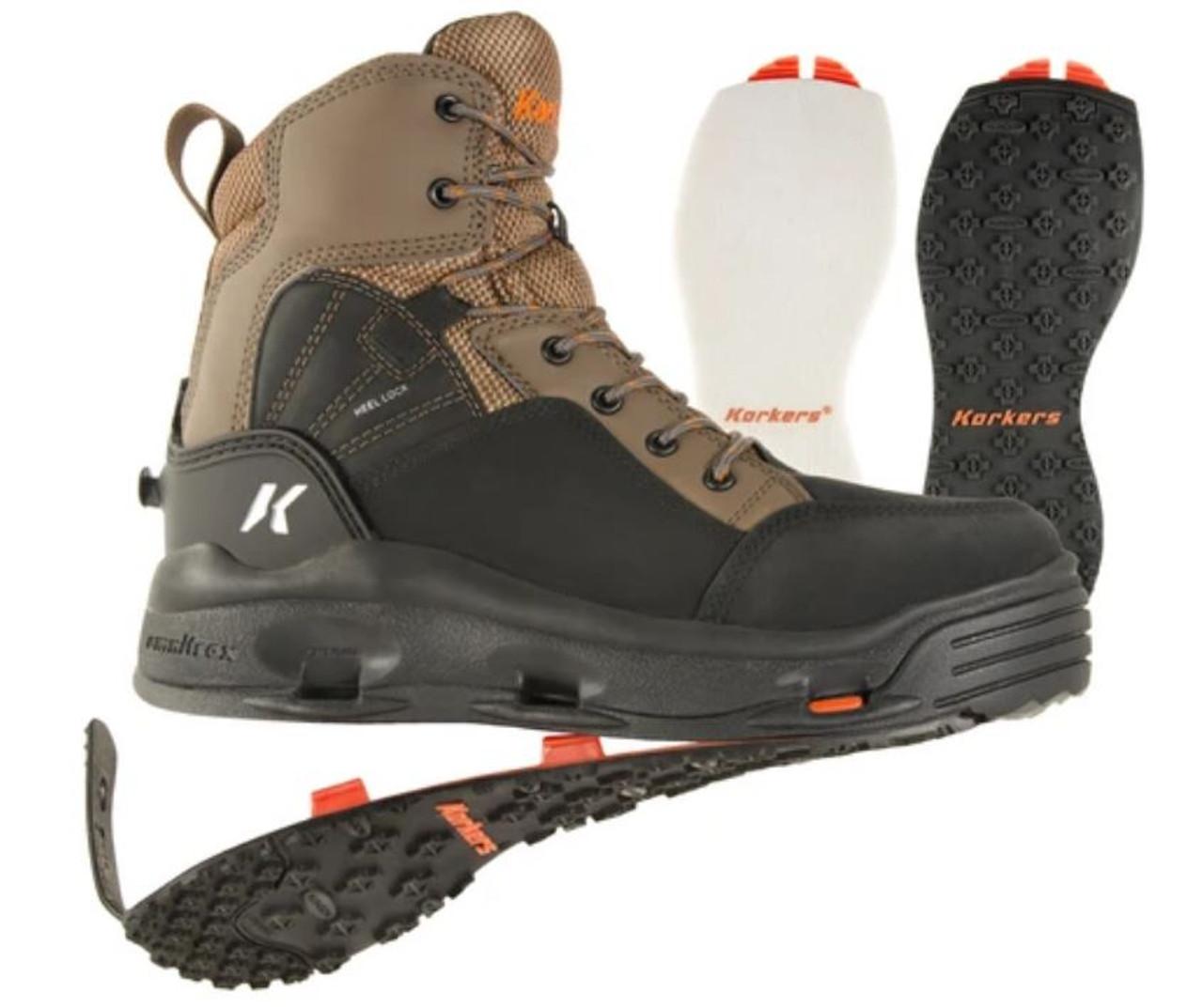 KORKERS BUCKSKIN W/ FELT & KLING-ON SOLES WADING BOOTS