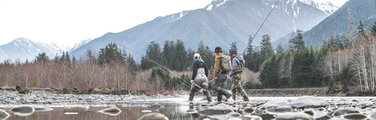 Simms waders are the ultimate choice for every season.