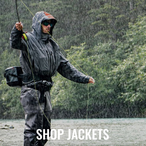 Simms, Grundens, Orvis, Patagonia, and Helly Hansen.
