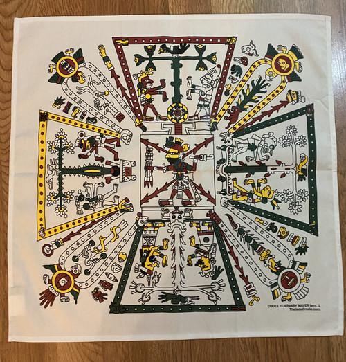 Altar Cloth: Codex Fejérváry-Mayer lam. 1/Tonalamatl de los pochtecas