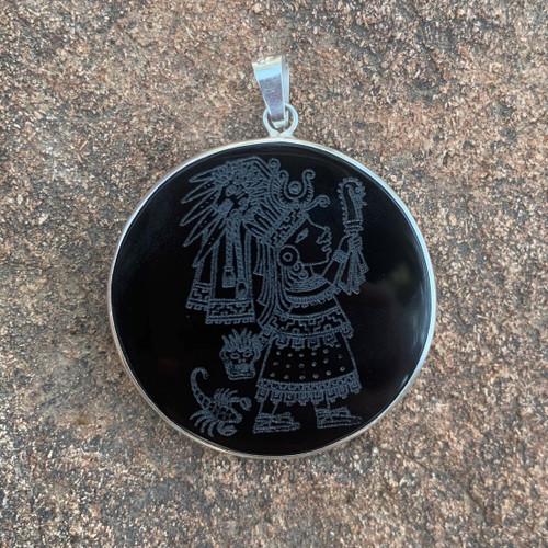 Obsidian Amulet: Malinalxochitl
