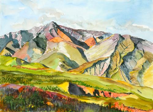 White Mountain, Summer Sunset Giclee Print