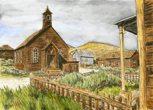 Methodist Church, Bodie, Ca