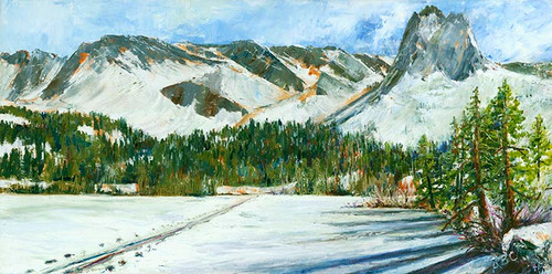 Lake Mary Ski Tracks Print