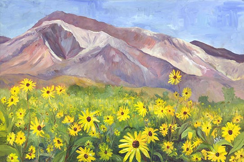 Mt Tom and Sunflowers