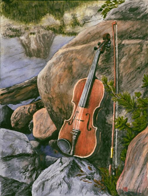 Violin at Lake George