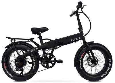Elux Electric | Sierra Folding Bike | Matte Black | No Rack