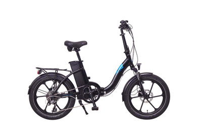Magnum Electric   Premium Low Step   Electric City Bike   2020   Black with Blue Accents