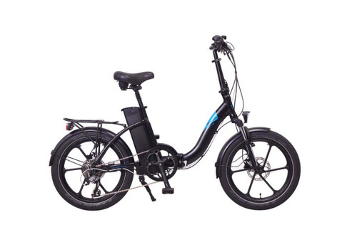 Magnum Electric | Premium Low Step | Electric City Bike | Black with Blue Accents
