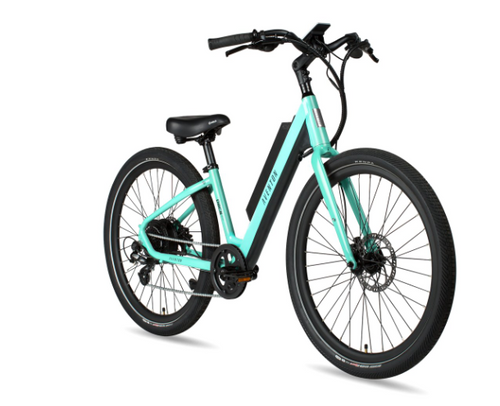 Aventon Electric | Pace 500 Step Through | Electric Bike | Celeste Teal