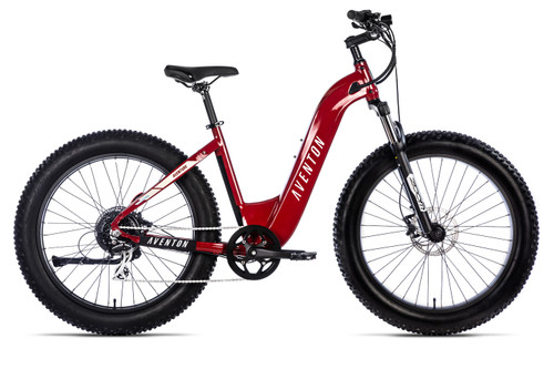 Aventon Electric | Aventure Step Thru | Electric Fat Bike | Electric Red