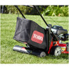 Lawn striping system is bagger friendly