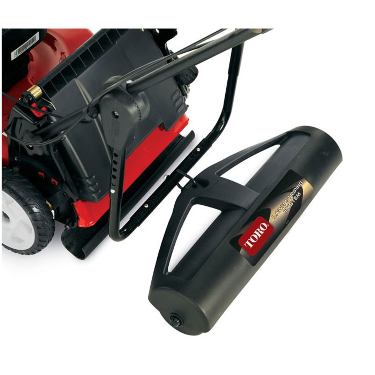 Toro Lawn Striping System easily attaches to most walk behind mowers