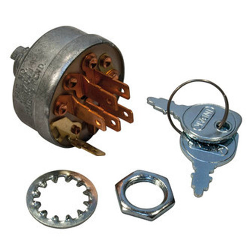 IGNITION/KEY SWITCH ASSEMBLY  For Kohler CH11 CH12.5 CH14 CH18 CH20 CH22 CH25 Kohler 25 099 04-S, Kohler 25 099 02, Toro 103991, Kohler 25 099 32-S, Kohler 25 099 37-S Prime Line 25 099 04-S, Rotary 7302, Dealer Choice 81-1280, Oregon 33-394, NHC 269-5562, Napa 7-068206, Ratio Parts 014-1491, Sunbelt B1SB7280, EG/F1 2305952 Kohler CH11, CH12.5, CH14, CH18, CH20, CH22, CH25, CV12.5, M8, M10, M12, M16, M18, M20, TH16 and TH18 Ignition Type: Magneto, Made by Indak, No. Of Positions: 3, No. Of Terminals: 6