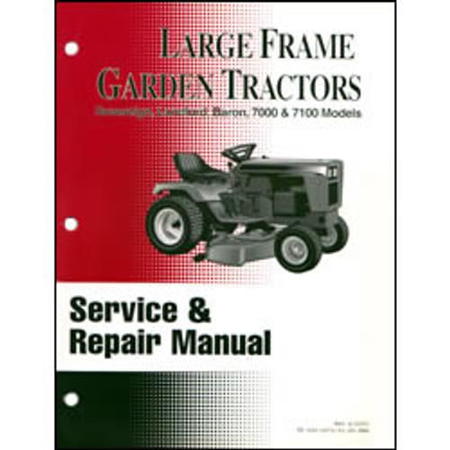 Simplicity Large Frame Garden Tractor Repair Manual 500-0973