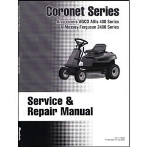Simplicity Coronet Series Tractor Repair Manual 500-2091
