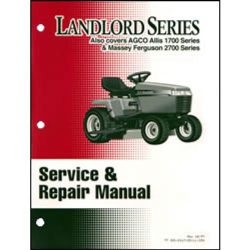 Simplicity Landlord Series Tractor Repair Manual 500-2117