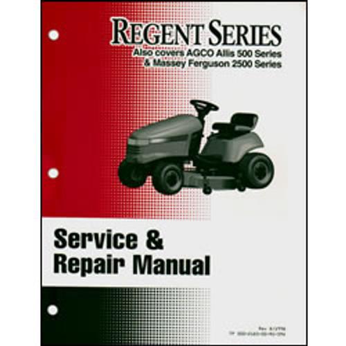 Simplicity Regent Series Tractor Repair Manual 500-2183