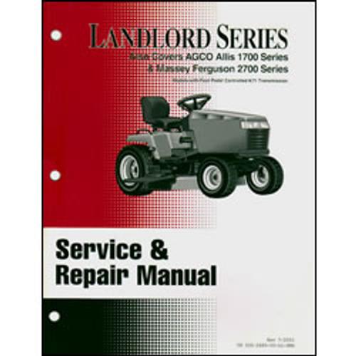 Simplicity Landlord Series Tractor Repair Manual 500-2489
