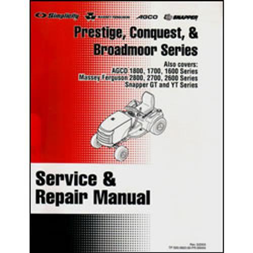 Simplicity Prestige, Conquest and Broadmoor Series Tractor Repair Manual 500-3820