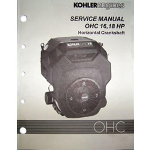 Kohler OHC 16HP & 18HP Horizontal Crankshaft Engine Repair Manual TP-2480