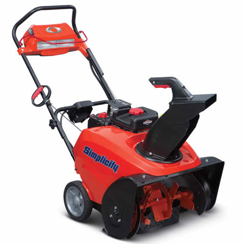 Simplicity 1696755 1222EE single stage snowblower with electric start and Snow Shredder auger