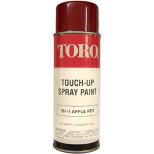 Toro Apple Red Spray Paint 361-1 (models Older Than 1990)  This listing is for Toro Apple Red paint. This color is for Toro Equipment 1990 and Earlier.