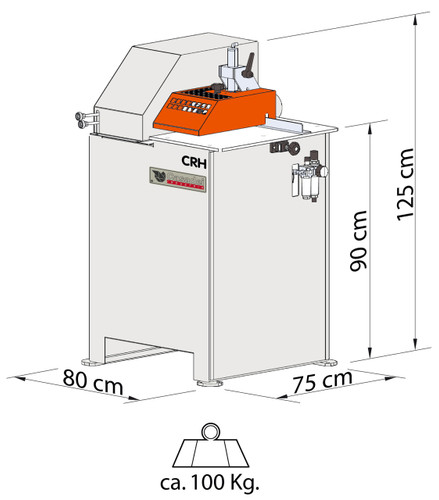 Physical size of machine