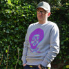 Murrz collaboration, quality 100% Organic Cotton grey sweatshirt